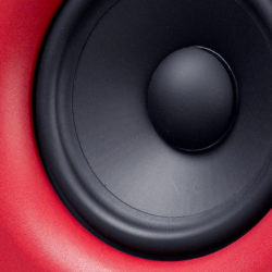 "5.25"" woofer with a magnetically shielded polypropylene/ceramic membrane"